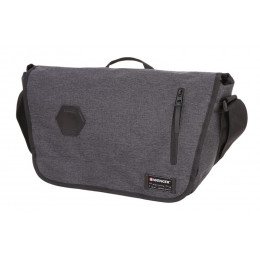 Сумка наплечная WENGER 5302424506, 13, cерая, ткань Grey Heather/ полиэстер 600D PU , 42х13х26 см, 14 л